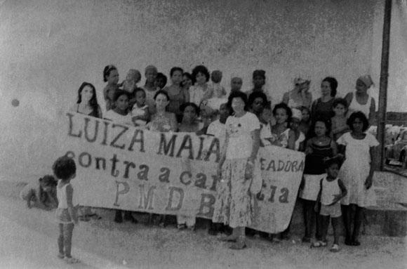 """Luiza disputou o pleito de 1982 pelo PMDB, que servia de """"guarda-chuva"""" para muitos membros da esquerda."""